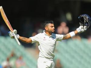 Kohli is the first opposition player to score a century in both innings of a Test in Australia in 53 years. Source: Getty Images